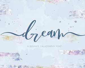 Dream Bounce Calligraphy英文字体下载