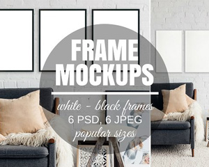 Picture Frame Set Of 3 Mockups 2709446画框PS样机