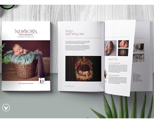 Newborn Studio Magazine Template 2840518宣传画册